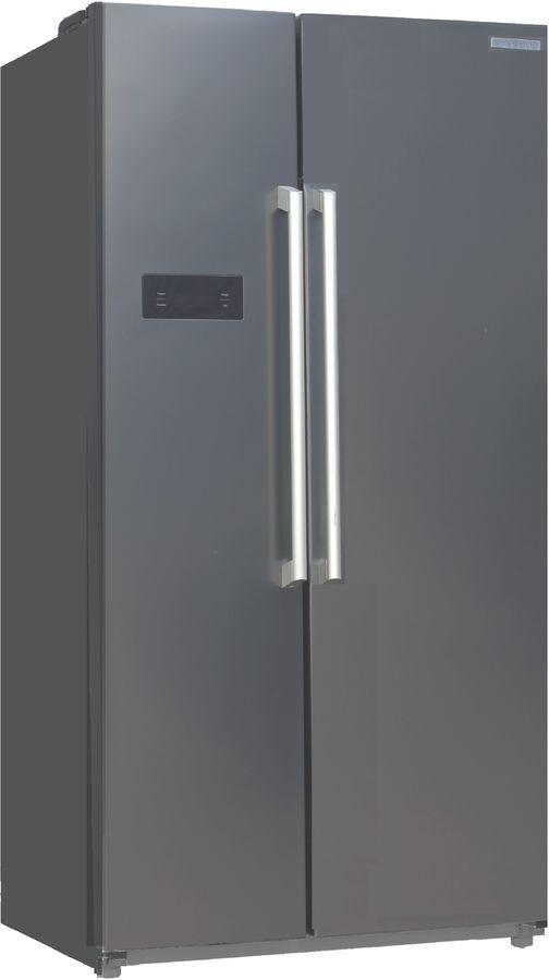 Холодильник KENWOOD KSB-1755X,  двухкамерный, нержавеющая сталь