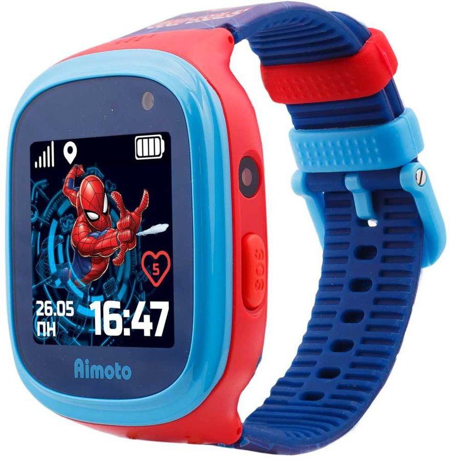 """Смарт-часы КНОПКА ЖИЗНИ Marvel Человек-Паук,  1.44"""",  синий / синий [9301101]"""