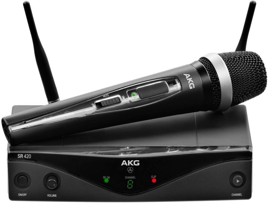 Радиосистема AKG WMS420 Vocal Set Band A беспровод. черный