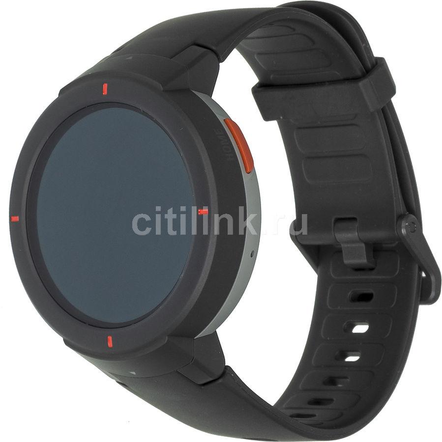 "Смарт-часы XIAOMI Amazfit Verge,  43мм,  1.3"",  темно-серый / темно-серый"