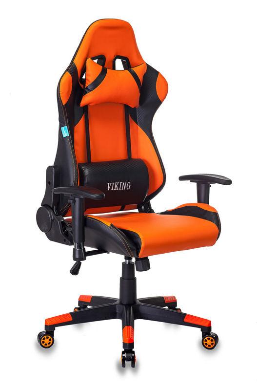 Кресло игровое БЮРОКРАТ CH-778N, на колесиках, искусственная кожа [ch-778n/bl+orange]