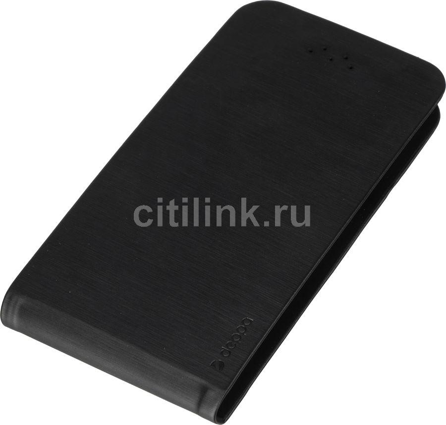 """Чехол (флип-кейс) DEPPA Flip Fold, для универсальный 4.3-5.5"""", черный [87020]"""