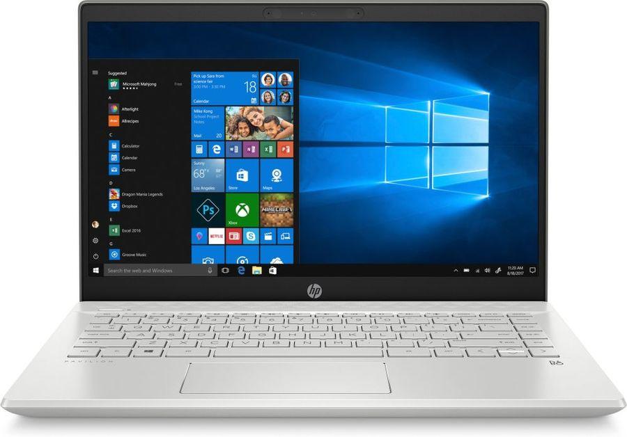 "Ноутбук HP 14-ce2000ur, 14"",  IPS, Intel  Core i3  8145U 2.1ГГц, 4Гб, 128Гб SSD,  Intel UHD Graphics  620, Windows 10, 6PR73EA,  серебристый"