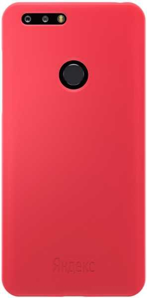Чехол (клип-кейс) ЯНДЕКС Liquid Silicon Case, для Яндекс Телефон, красный [yp-clsil18r/red]