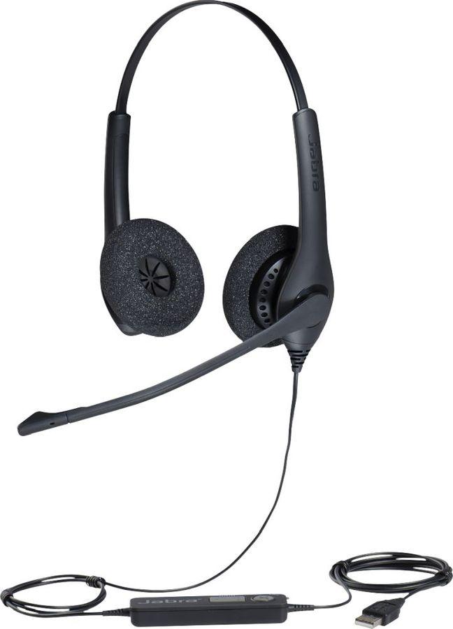 Гарнитура JABRA BIZ 1500 Duo,  для контактных центров, накладные,  черный  [1559-0159]