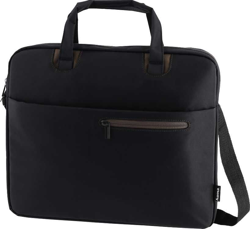"""Сумка для ноутбука 15.6"""" HAMA Sydney, черный/коричневый [00101933]"""