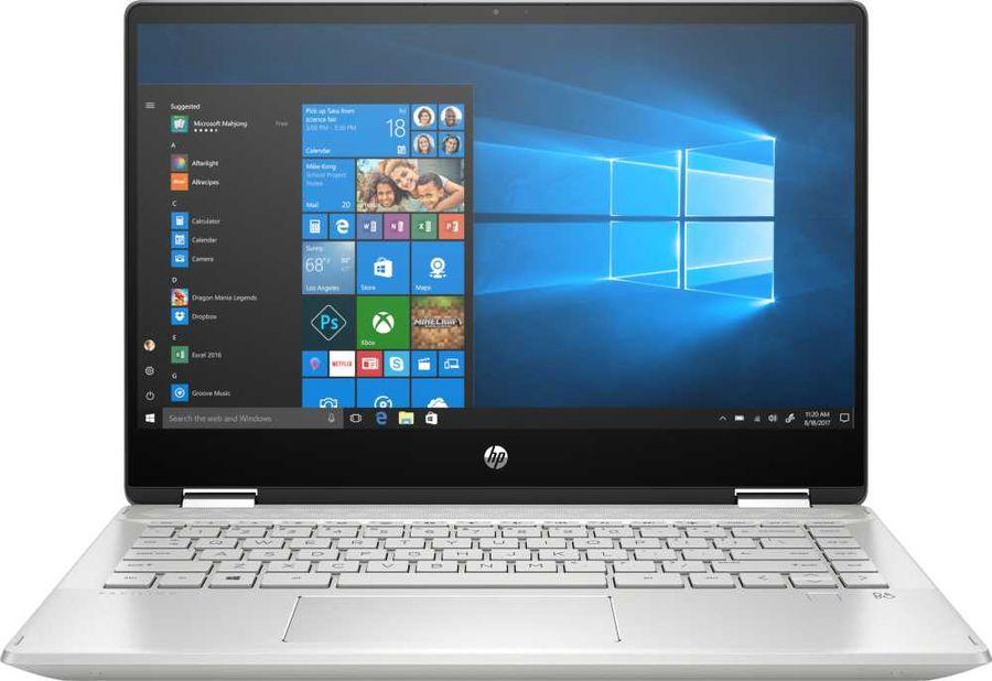 "Ноутбук-трансформер HP Pavilion x360 14-dh0005ur, 14"",  Intel  Core i5  8265U 1.6ГГц, 8Гб, 256Гб SSD,  nVidia GeForce  Mx130 - 2048 Мб, Windows 10, 6PS33EA,  серебристый"
