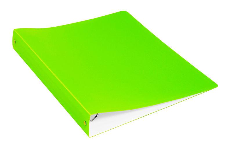 Папка с метал.пруж.скоросш. Бюрократ Double Neon DNE07PLETT A4 пластик 0.7мм карм.прод.внут. салатов