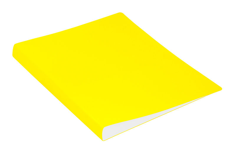 Папка с метал.пруж.скоросш. Бюрократ Double Neon DNE07PYEL A4 пластик 0.7мм карм.прод.внут. желтый