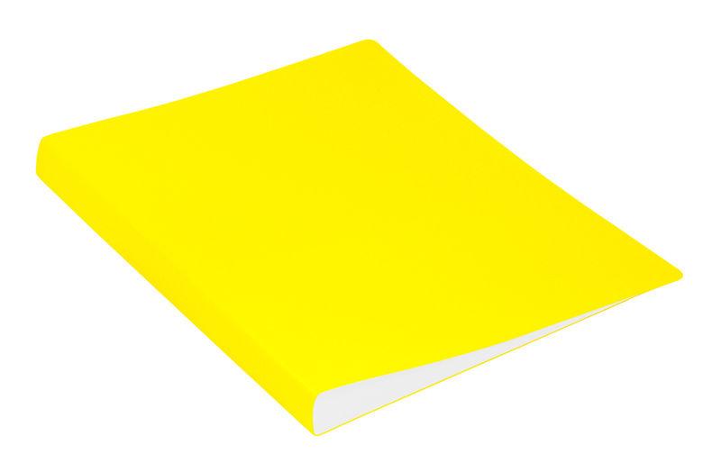Папка с метал.зажим Бюрократ Double Neon DNE07СYEL A4 пластик 0.7мм карм.прод.внут. желтый
