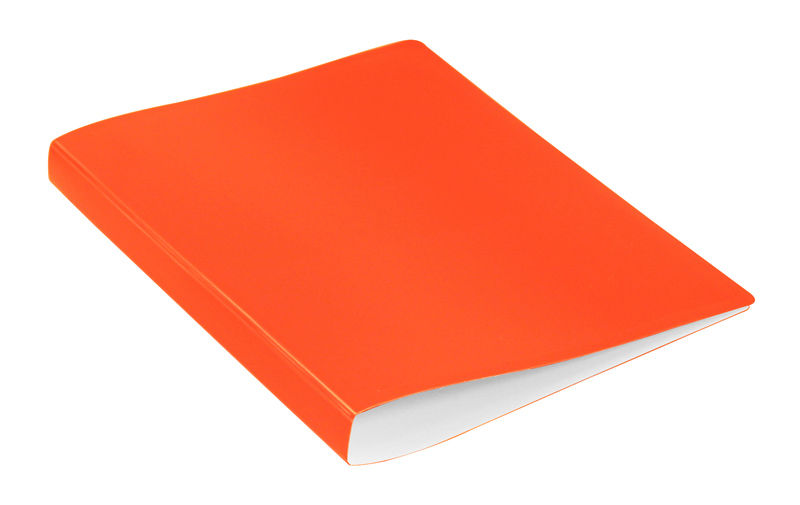 Папка с метал.зажим Бюрократ Double Neon DNE07СOR A4 пластик 0.7мм карм.прод.внут. оранжевый
