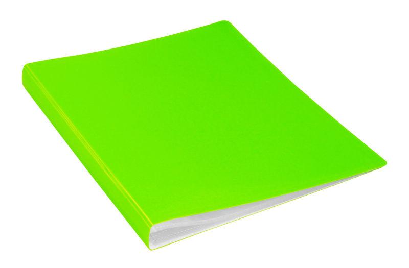 Папка с 20 прозр.вклад. Бюрократ Double Neon DNE07V20LETT A4 пластик 0.7мм салатовый