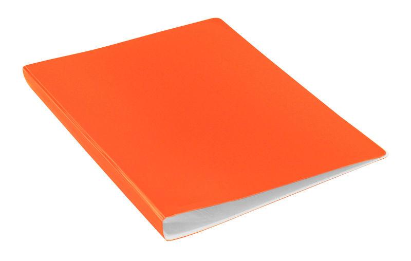Папка с 20 прозр.вклад. Бюрократ Double Neon DNE07V20OR A4 пластик 0.7мм оранжевый
