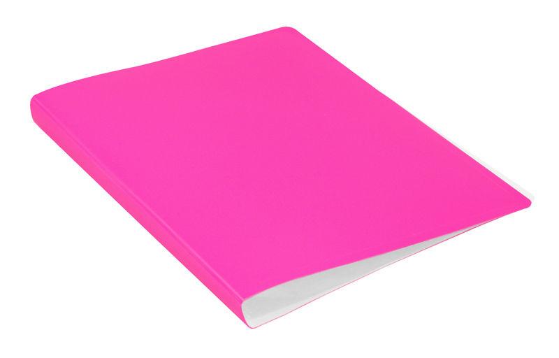 Папка с 30 прозр.вклад. Бюрократ Double Neon DNE07V30PINK A4 пластик 0.7мм розовый