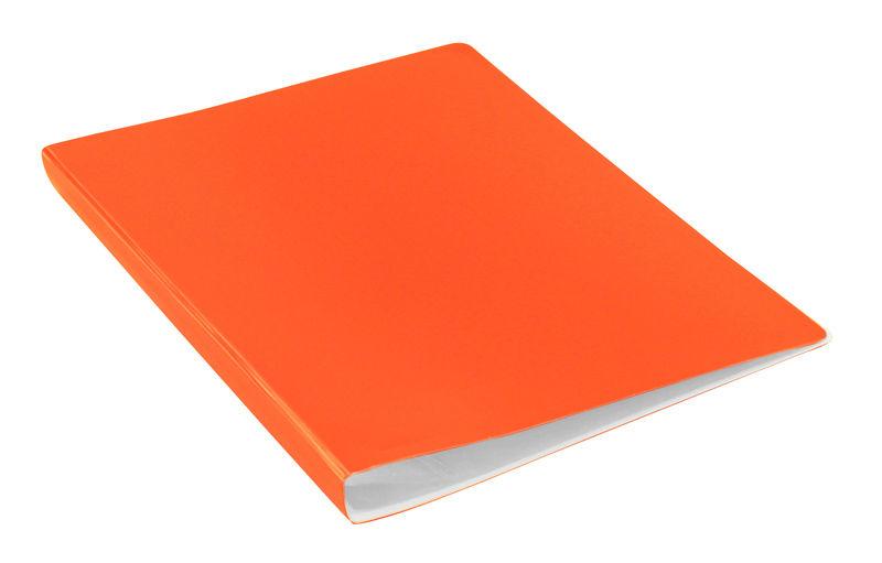Папка с 30 прозр.вклад. Бюрократ Double Neon DNE07V30OR A4 пластик 0.7мм оранжевый