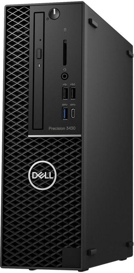Рабочая станция  DELL Precision 3430,  Intel  Core i7  8700,  DDR4 8Гб, 1000Гб,  AMD Radeon Pro WX 4100 - 4096 Мб,  DVD-RW,  Windows 10 Professional,  черный [3430-5642]
