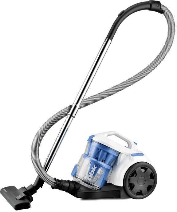 Пылесос BBK BV1501, 1600Вт, белый/синий