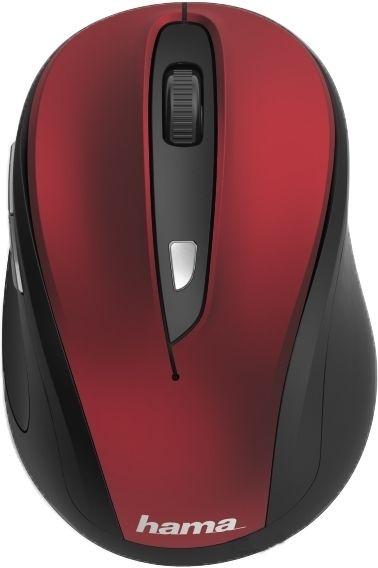Мышь HAMA MW-400, оптическая, беспроводная, USB, красный [00182628]