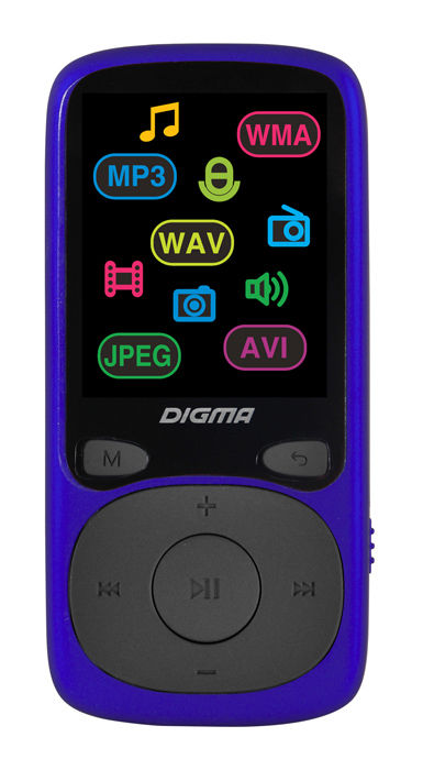 MP3 плеер DIGMA B4 flash 8ГБ синий