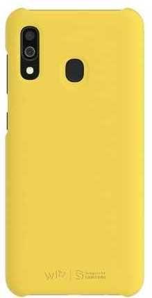 Чехол (клип-кейс) SAMSUNG WITS Premium Hard Case, для Samsung Galaxy A30, желтый [gp-fpa305wsbyw]