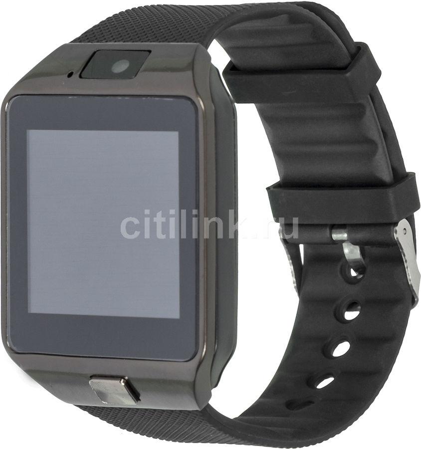 """Смарт-часы SMARTERRA Chronos X,  1.54"""",  черный / черный [sm-uc101lb]"""