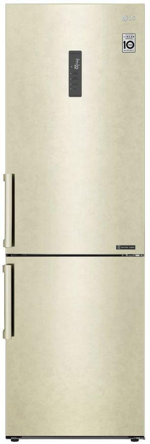 Холодильник LG GA-B459BEGL,  двухкамерный, бежевый