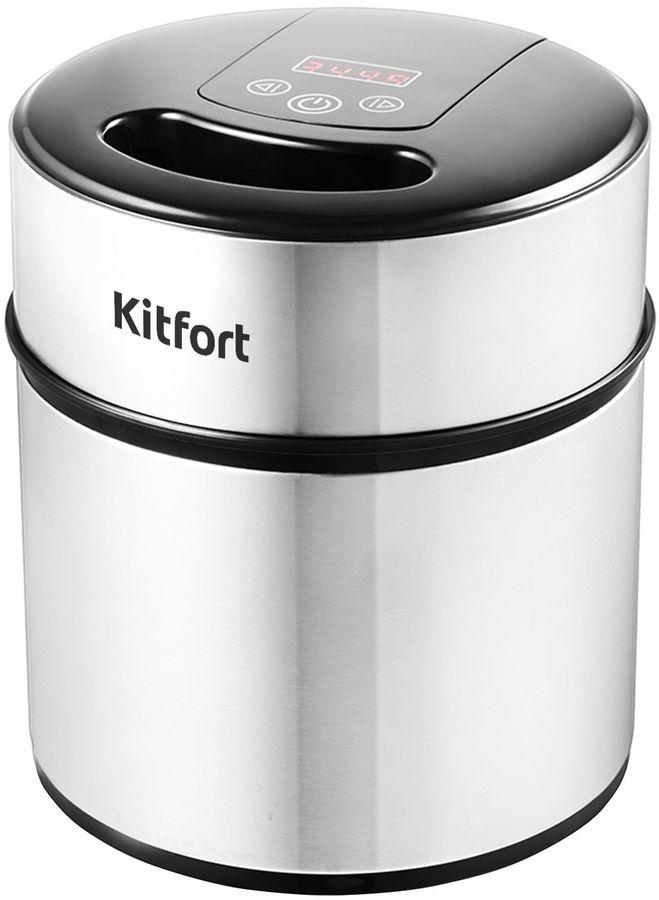 Мороженица Kitfort КТ-1804 12Вт 2000мл. серебристый/черный