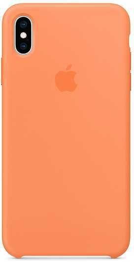 Чехол (клип-кейс) APPLE Silicone Case, для Apple iPhone XS Max, оранжевый [mvf72zm/a]