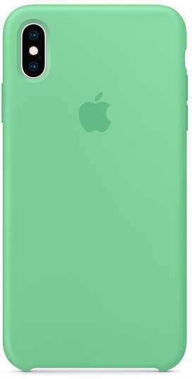 Чехол (клип-кейс) APPLE Silicone Case, для Apple iPhone XS Max, мятный [mvf82zm/a]