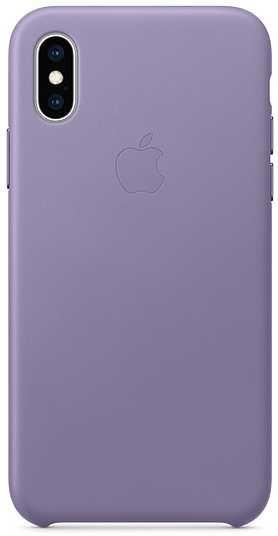 Чехол (клип-кейс) APPLE Leather Case, для Apple iPhone XS, сиреневый [mvfr2zm/a]