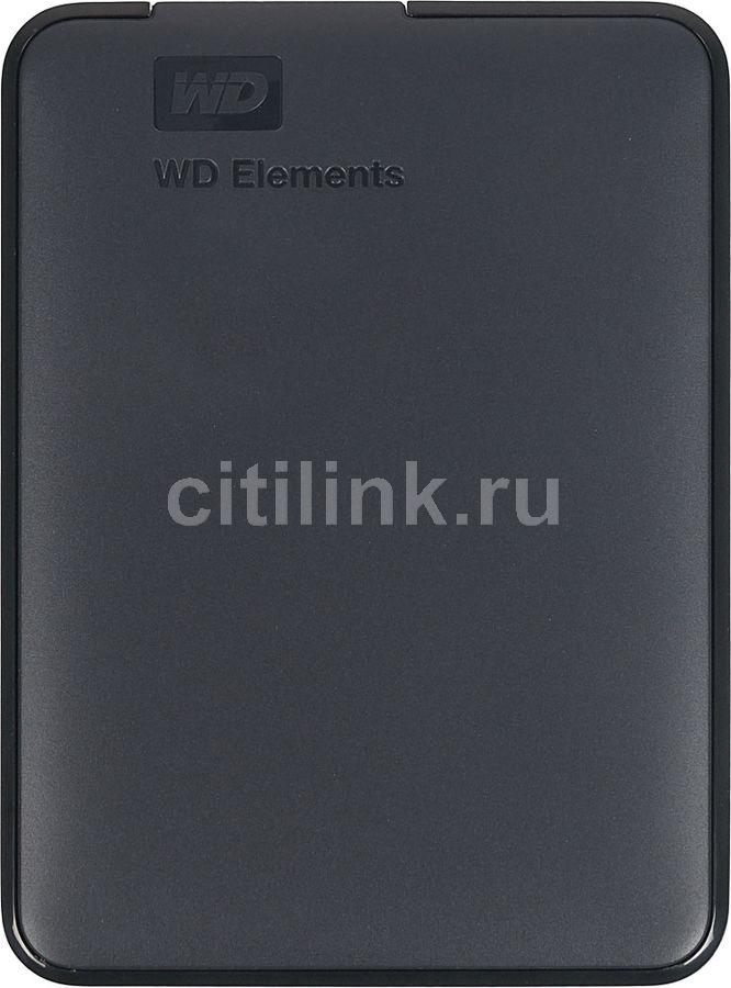 Внешний жесткий диск WD Elements Portable WDBMTM0010BBK-EEUE, 1Тб, черный