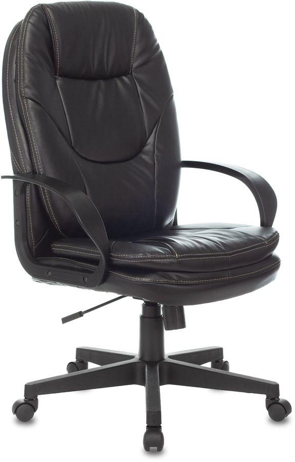 Кресло руководителя БЮРОКРАТ CH-868LT, на колесиках, искусственная кожа, черный [ch-868lt/#b]