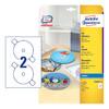 Этикетки Avery Zweckform CD/DV C9660-25 A4/196г/м2/50л./белый супер глянец самоклей. для лазерной пе вид 1