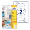 Этикетки Avery Zweckform CD/DVD L6015-25 A4/196г/м2/50л./белый самоклей. для лазерной печати вид 1