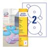 Этикетки Avery Zweckform CD/DVD L7676-25 A4/196г/м2/50л./белый супер глянец самоклей. для лазерной п вид 1