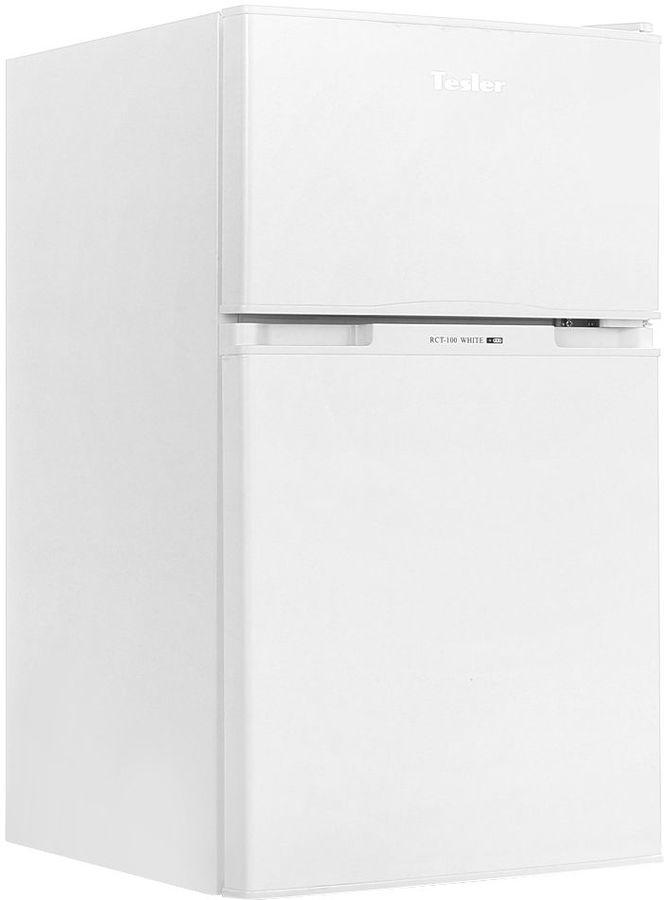 Холодильник TESLER RCT-100,  двухкамерный, белый