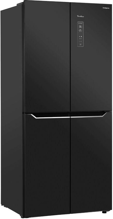Холодильник TESLER RCD-480I,  двухкамерный, черное стекло