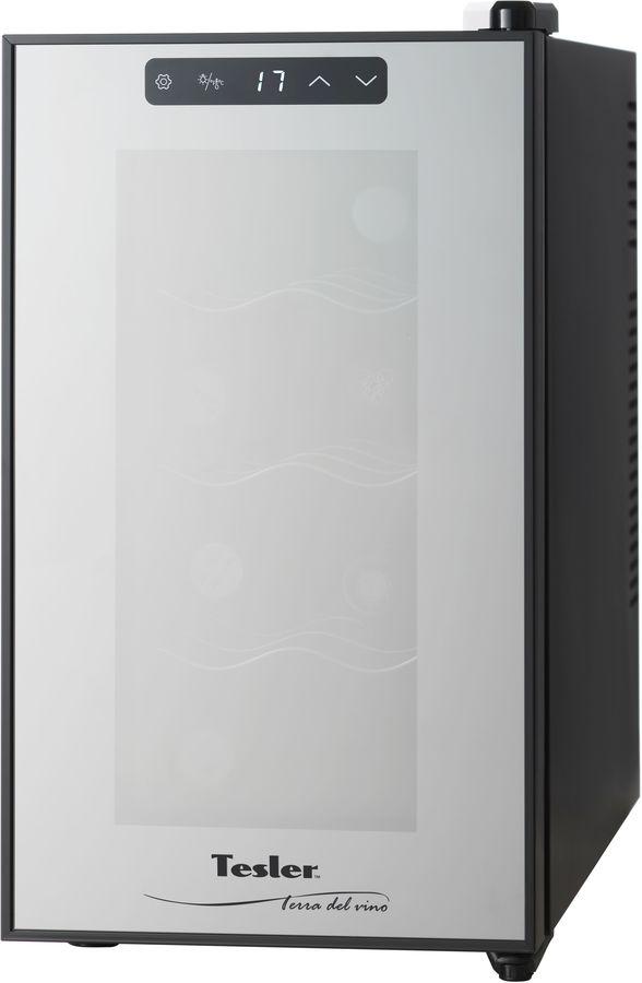 Винный шкаф TESLER WCV-080,  однокамерный, черный