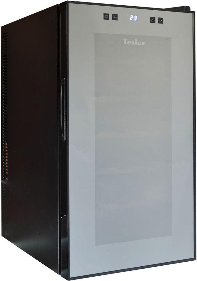 Винный шкаф TESLER WCV-180,  однокамерный, черный
