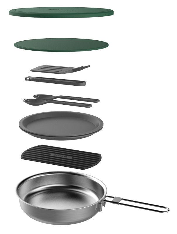 Набор термопосуды Stanley Adventure Prep+Eat Fry Pan Set (10-02658-013) 0.94л. серебристый
