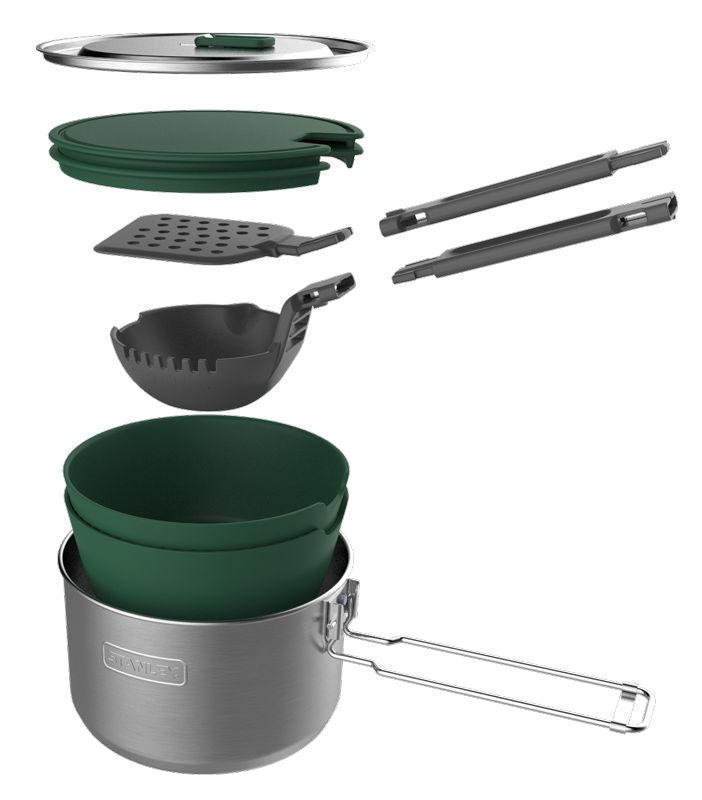 Набор термопосуды Stanley Adventure 1 Pot Prep+Cook Set (10-01715-017) 1.5л. серебристый