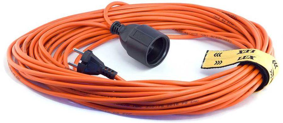 Удлинитель силовой LUX УС1-О-40-10140 2x0.75кв.мм 1розет. 40м ПВС 6A без катушки оранжевый