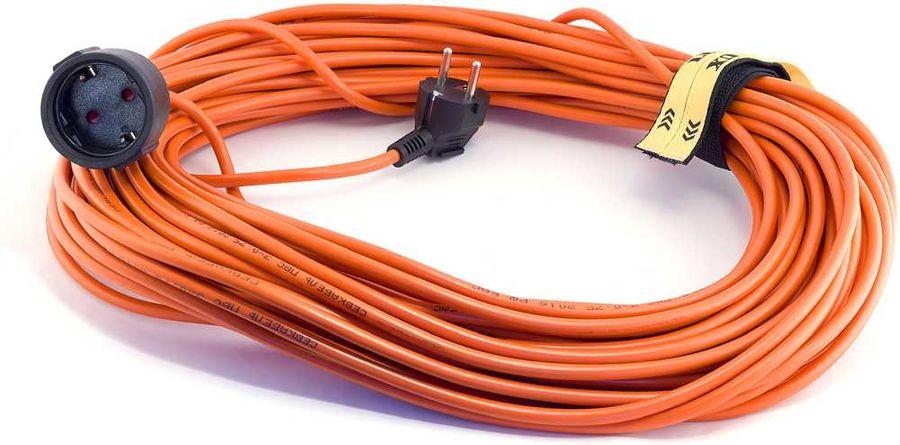 Удлинитель силовой LUX УС1-Е-20-16120 3x0.75кв.мм 1розет. 20м ПВС 10A без катушки оранжевый