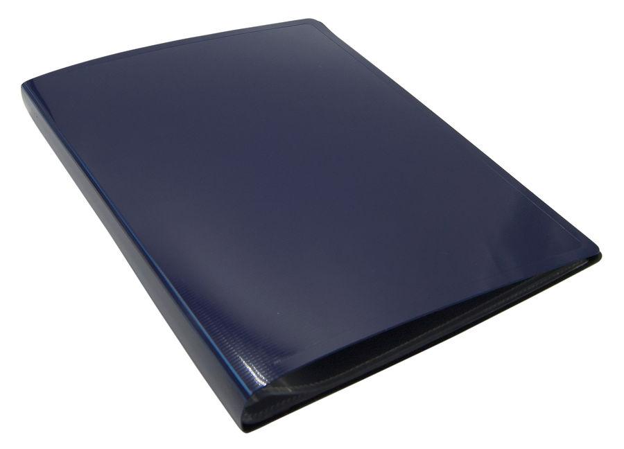 Папка с 20 прозр.вклад. Бюрократ DeLuxe DLV20BBERRY A4 пластик 0.7мм черничный
