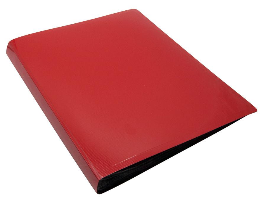 Папка с 10 прозр.вклад. Бюрократ DeLuxe DLV10RED A4 пластик 0.7мм красный