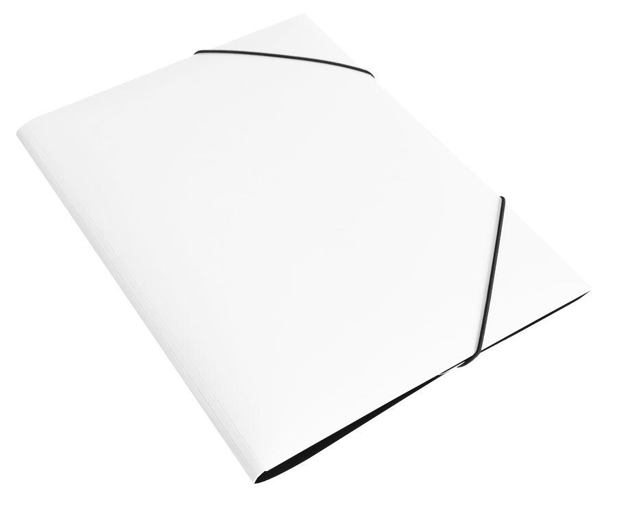 Папка на резинке Бюрократ DeLuxe DL510MILK A4 пластик кор.30мм 0.7мм молочный