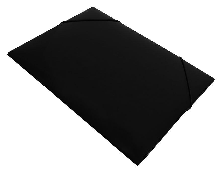 Папка на резинке Бюрократ DeLuxe DL510BLCK A4 пластик кор.30мм 0.7мм черный