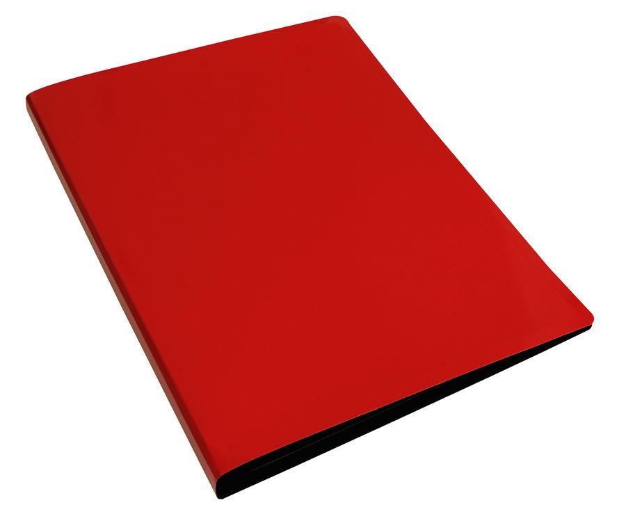 Папка с метал.пруж.скоросш. Бюрократ DeLuxe DL07PRED A4 пластик 0.7мм красный