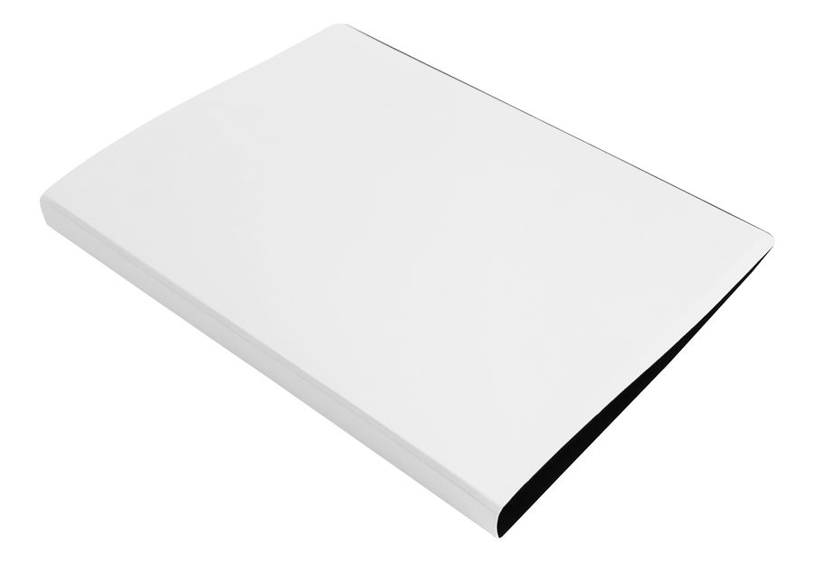 Папка с метал.пруж.скоросш. Бюрократ DeLuxe DL07PMILK A4 пластик 0.7мм молочный