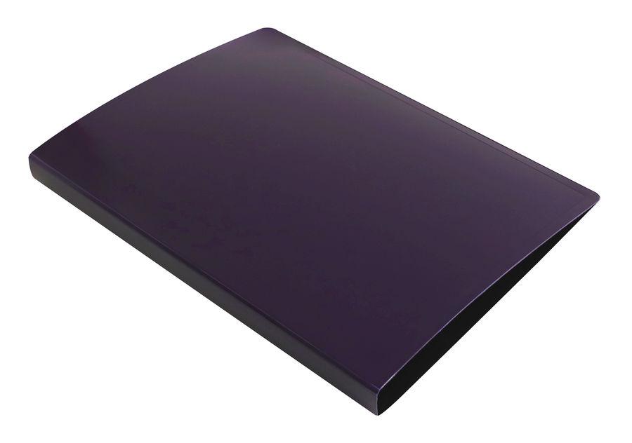 Папка с метал.пруж.скоросш. Бюрократ DeLuxe DL07PBBERRY A4 пластик 0.7мм черничный